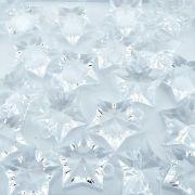 Pingente Estrela de Acrílico - Transparente - 31mm - 100pçs
