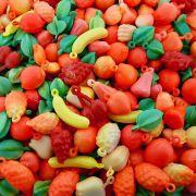 Pingente Frutinhas de Plástico - Variado - 250g
