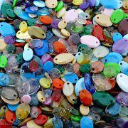 Pingente Lentilha de Plástico - Variado - 250g