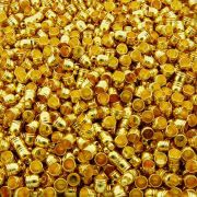 Terminal para Colagem - Dourado - 9mm x 6mm - 100pçs