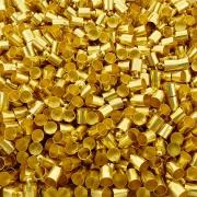 Terminal para Colagem - Dourado - 10mm x 6mm - 100pçs
