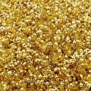 Tips com Argola - Dourado - 4mm - 100pçs