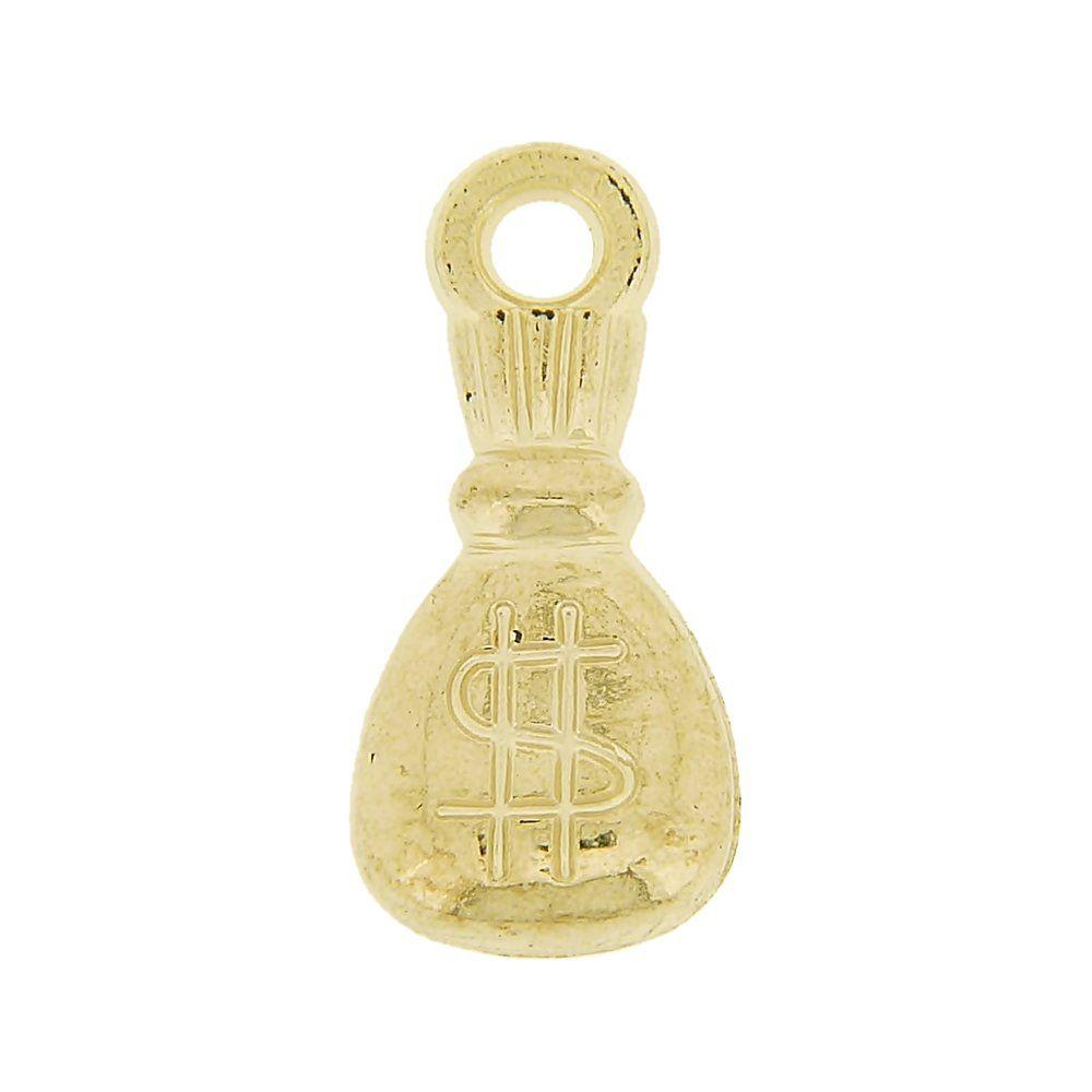 Pingente Saco de Dinheiro de ABS - 21mm  - Nathalia Bijoux®