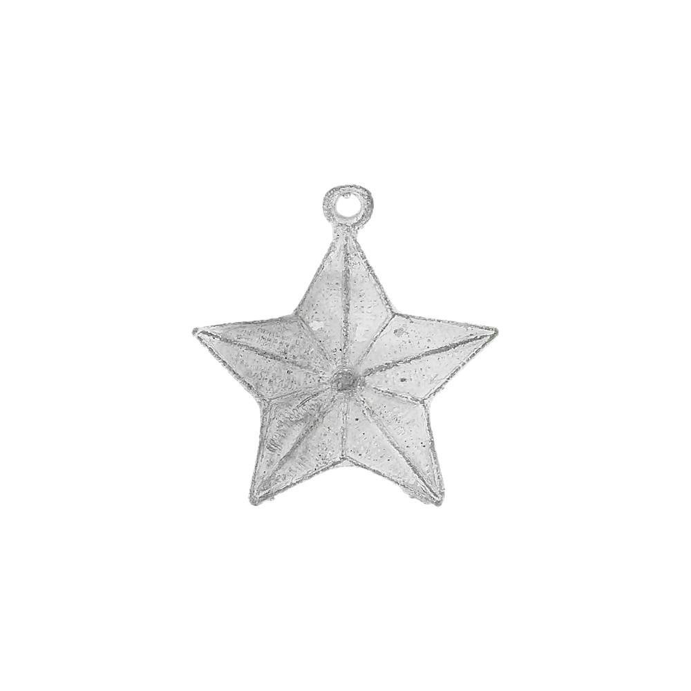 Pingente Estrela de Metal - 29mm  - Nathalia Bijoux®