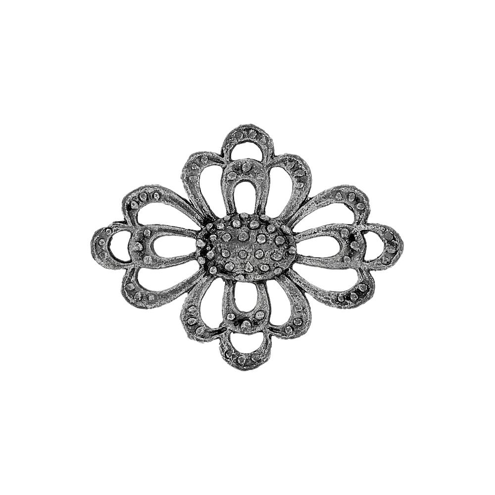 Alongador Flor de Metal 4 Saídas - 44mm  - Nathalia Bijoux®
