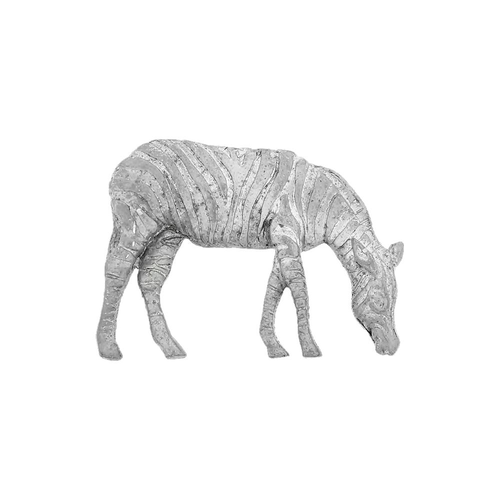 Pingente Zebra de Metal - 49mm  - Nathalia Bijoux®