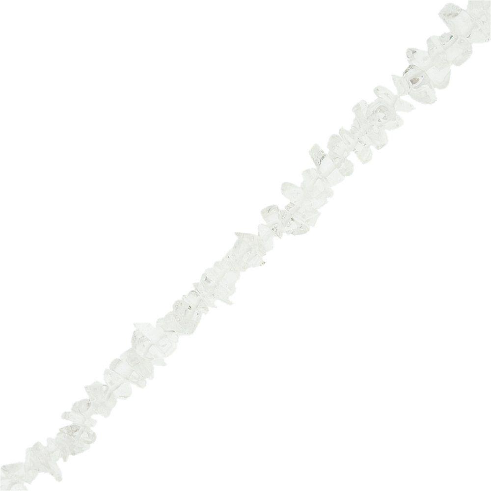 Fio de Cascalho de Cristal - 1m  - Nathalia Bijoux®