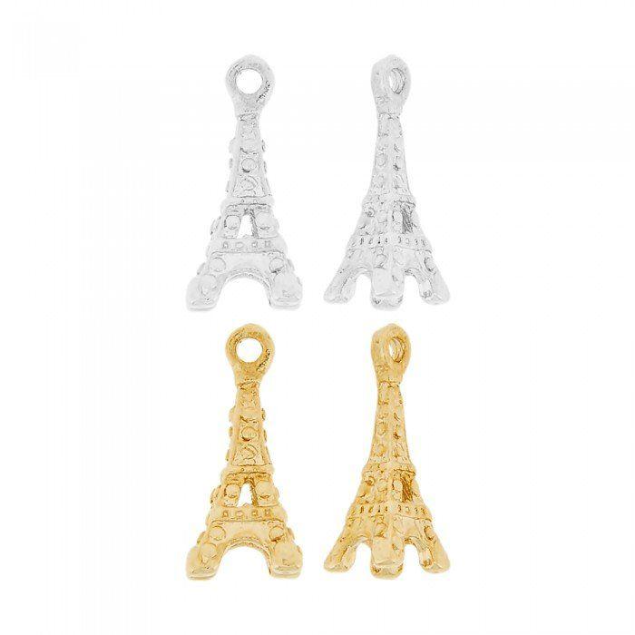 Pingente Torre Eiffel de Metal - 20mm  - Nathalia Bijoux®
