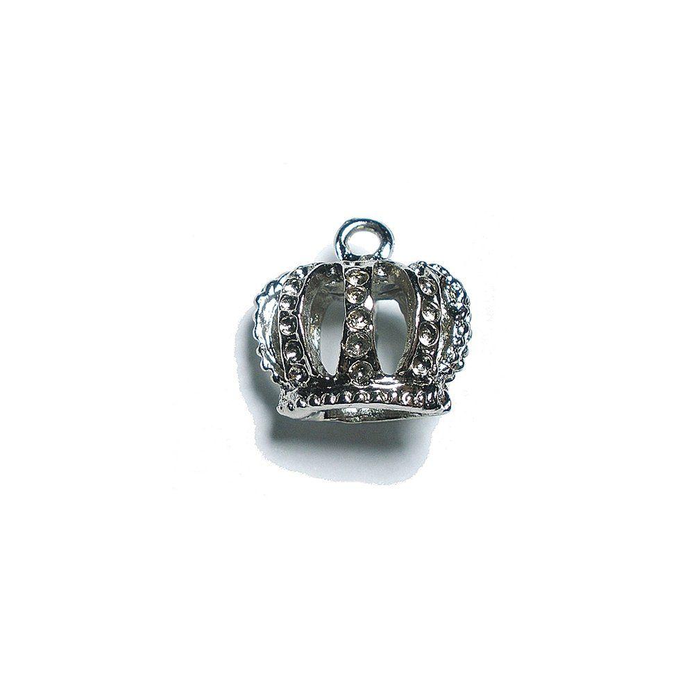 Pingente Coroa de Metal - 14mm  - Nathalia Bijoux®