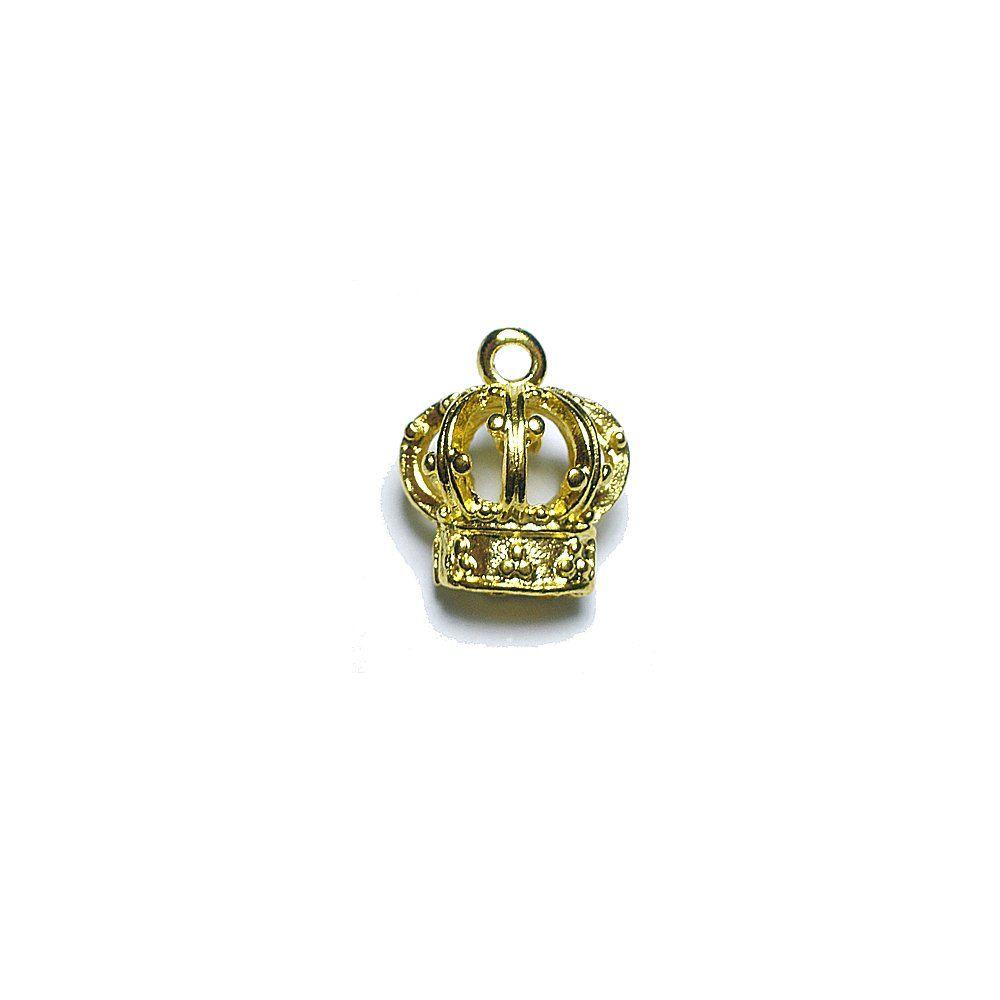 Pingente Coroa de Metal - 16mm  - Nathalia Bijoux®