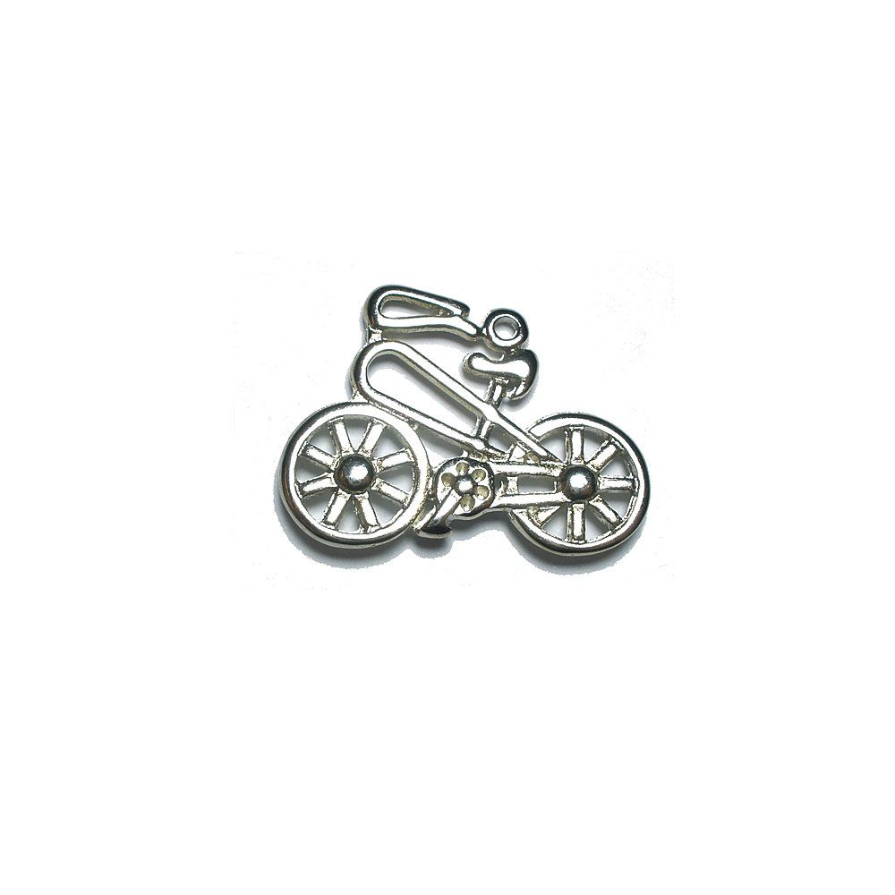 Pingente Bicicleta de Metal - 19mm  - Nathalia Bijoux®