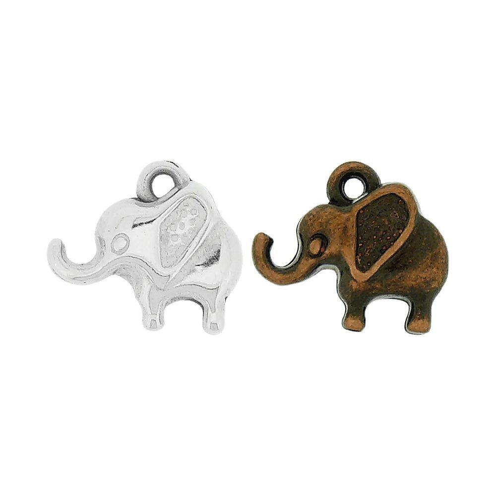 Pingente Elefante de ABS - 13mm  - Nathalia Bijoux®