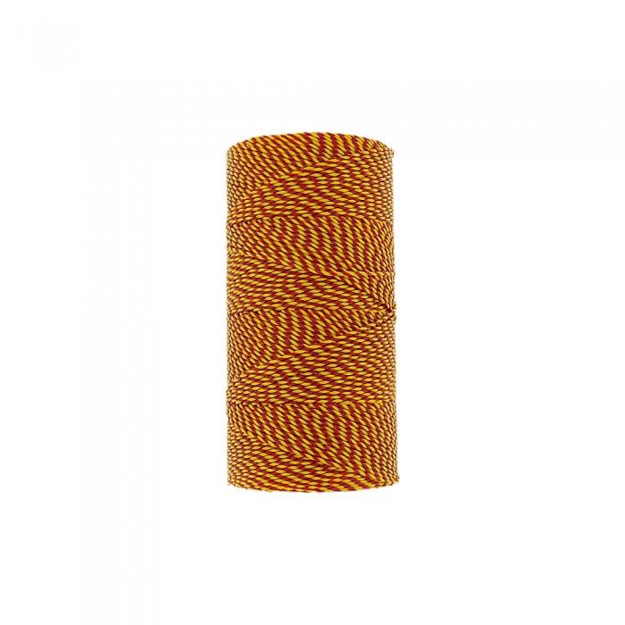 Rolo de Linha Encerada - Amarelo com Vermelho - 100g  - Nathalia Bijoux®
