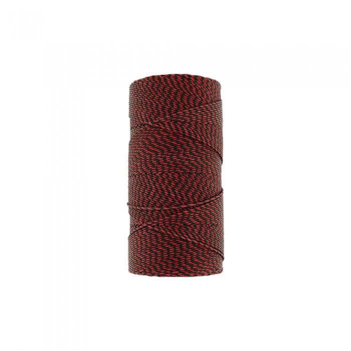 Rolo de Linha Encerada - Vermelho com Preto - 100g  - Nathalia Bijoux®