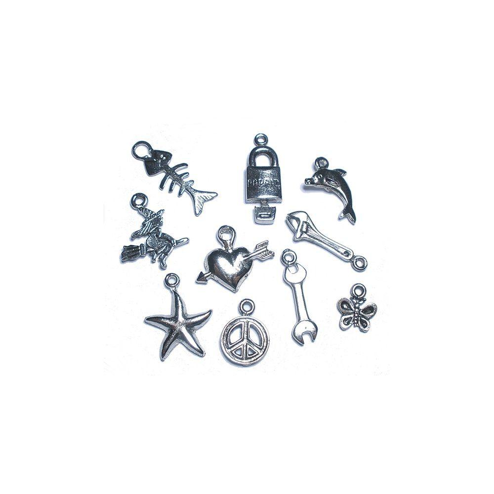 Pingente de Metal - 10pçs  - Nathalia Bijoux®