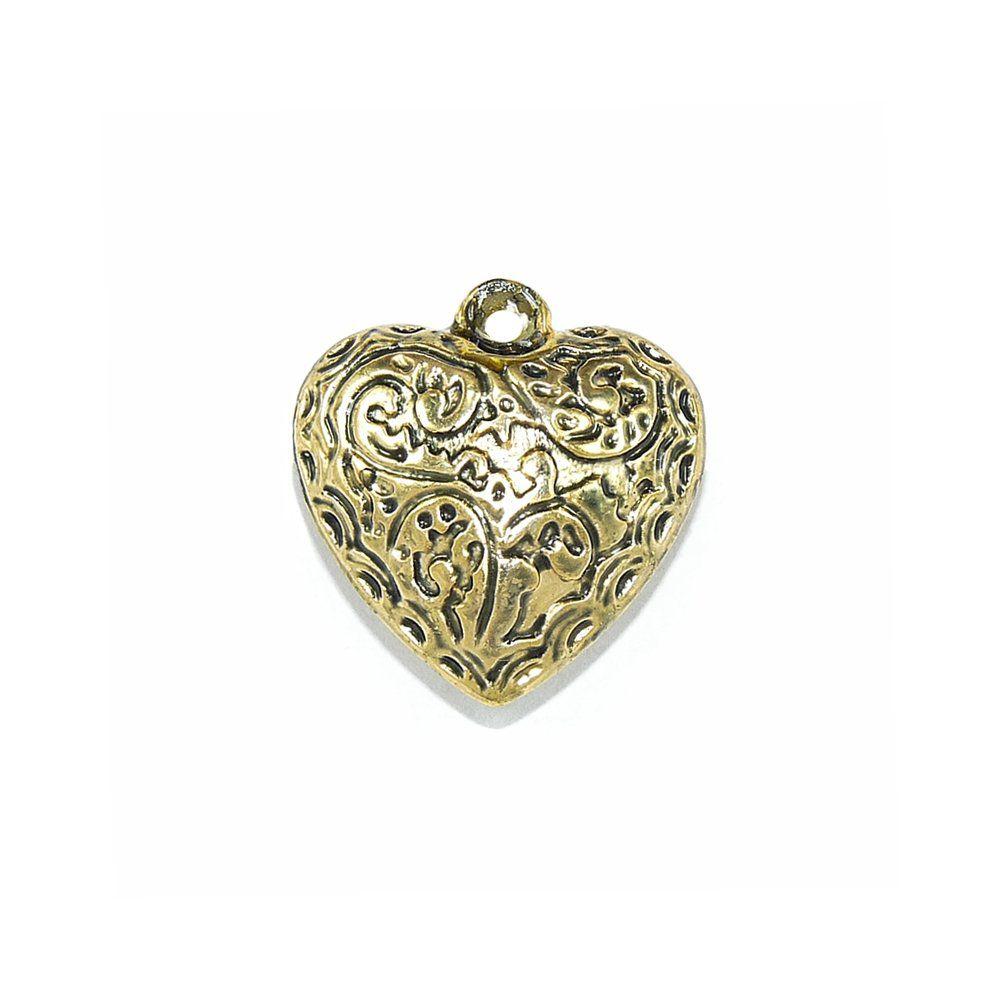 Pingente Coração de ABS - 21mm  - Nathalia Bijoux®