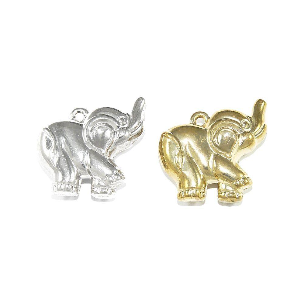 Pingente Elefante de ABS - 31.5mm  - Nathalia Bijoux®