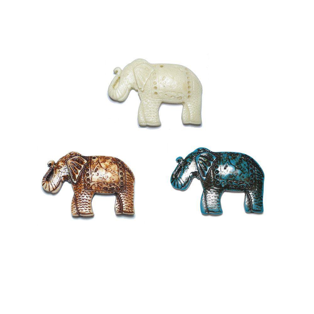 Pingente Elefante de Resina - 47mm  - Nathalia Bijoux®