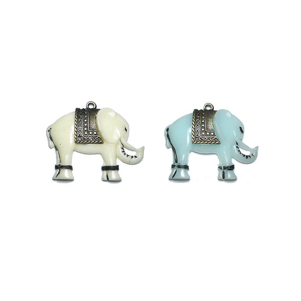 Pingente Elefante de Resina - 70mm  - Nathalia Bijoux®