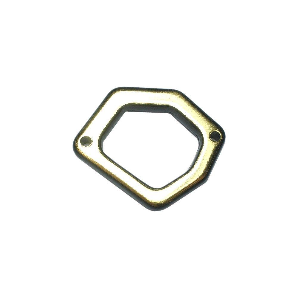 Alongador Argola de Plástico 2 Saídas - 32mm  - Nathalia Bijoux®