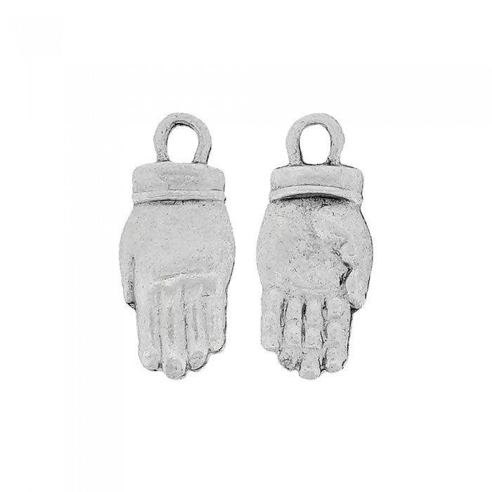 Pingente Mão de Metal - 23mm  - Nathalia Bijoux®