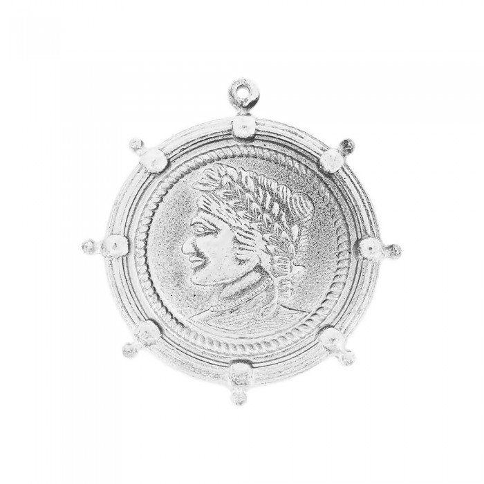Pingente com Moeda de Metal - 54mm  - Nathalia Bijoux®