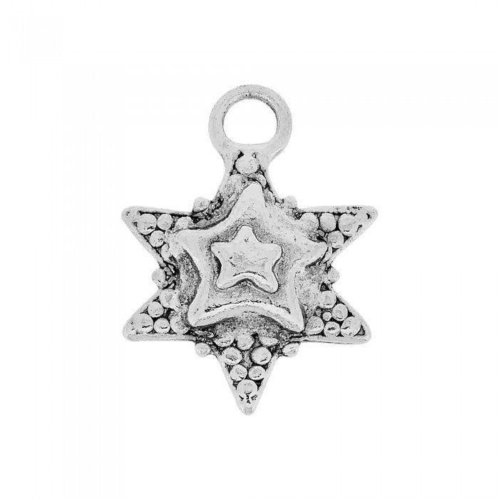 Pingente Estrela de Metal - 34mm  - Nathalia Bijoux®
