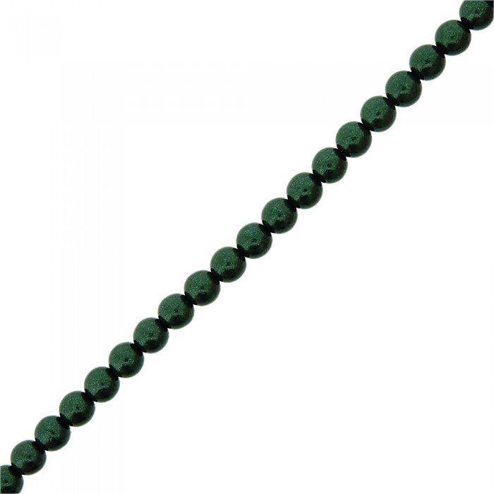 Fio de Pérolas de Plástico - Verde Esmeralda - 6mm - 60cm  - Nathalia Bijoux®