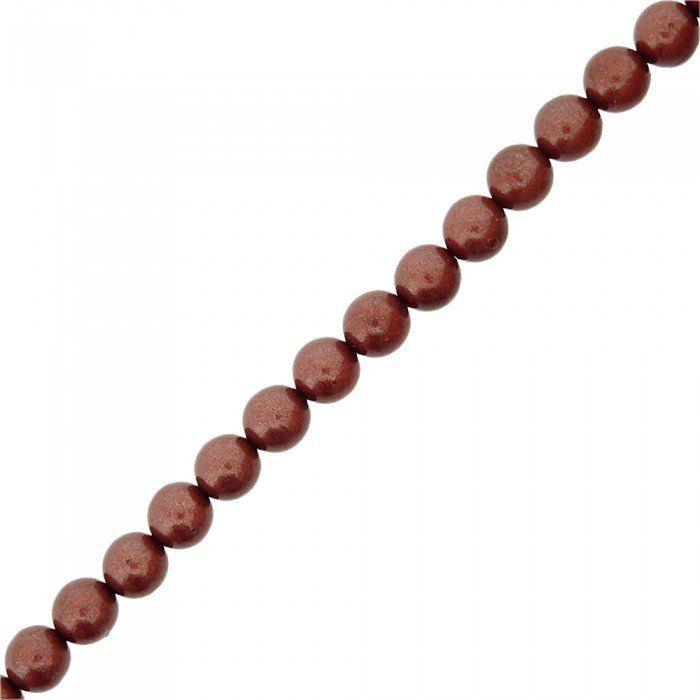 Fio de Pérolas de Plástico - Cobre - 8mm - 60cm  - Nathalia Bijoux®