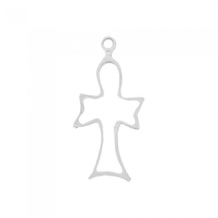 Pingente Cruz de Metal - 41mm  - Nathalia Bijoux®