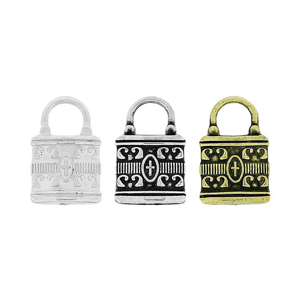 Pingente Cadeado de ABS - 22mm  - Nathalia Bijoux®