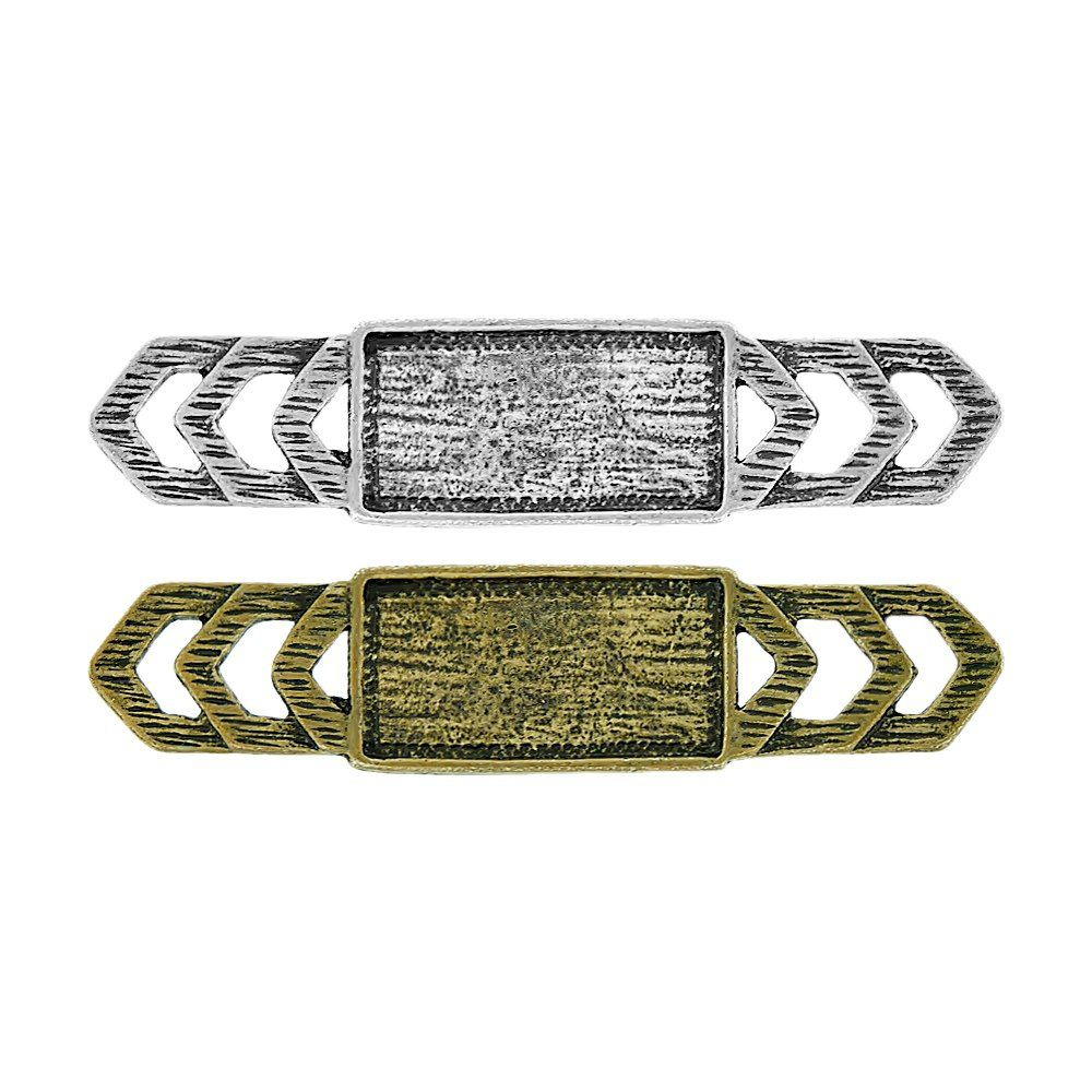 Aplique Base para Chaton de Metal - 63mm  - Nathalia Bijoux®