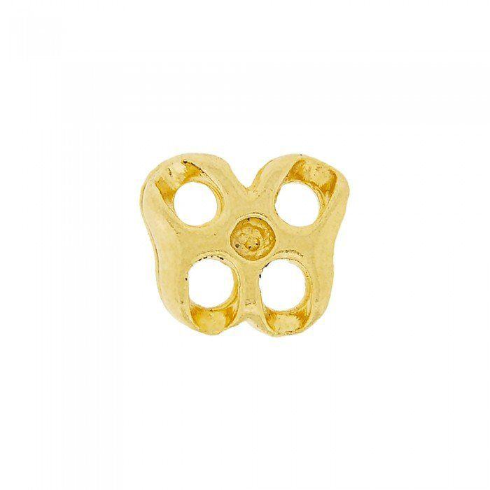 Alongador Borboleta de Metal 4 Saídas - 12mm  - Nathalia Bijoux®