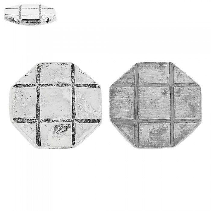 Pingente de Metal 2 Saídas - 34mm  - Nathalia Bijoux®