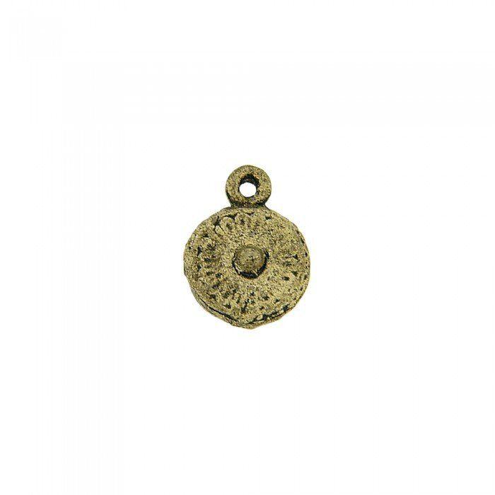 Pingente de Metal - 10mm  - Nathalia Bijoux®