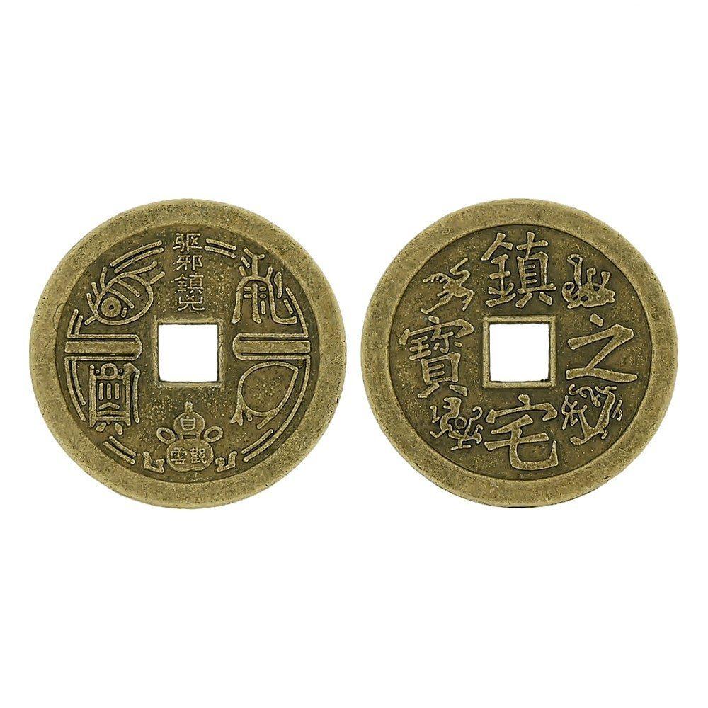 Pingente Moeda Oriental de Metal - 36mm  - Nathalia Bijoux®