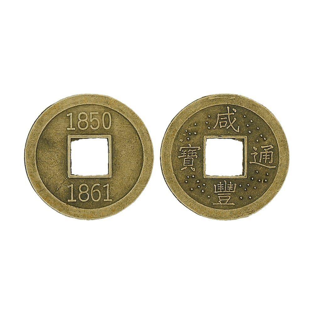 Pingente Moeda Oriental de Metal - 23mm  - Nathalia Bijoux®
