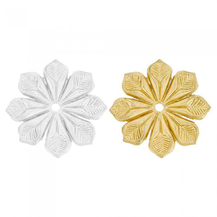 Aplique Flor de Metal - 37mm  - Nathalia Bijoux®