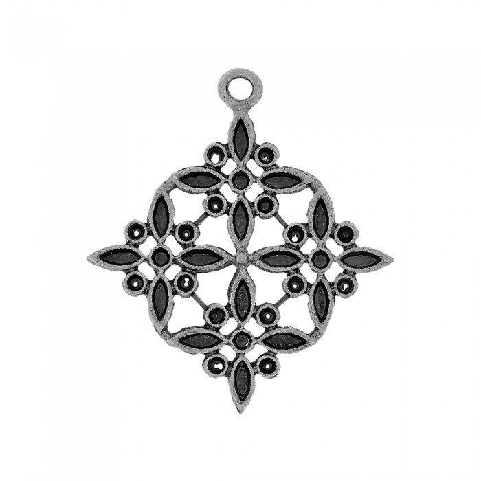 Pingente Flor de Metal - 57mm  - Nathalia Bijoux®