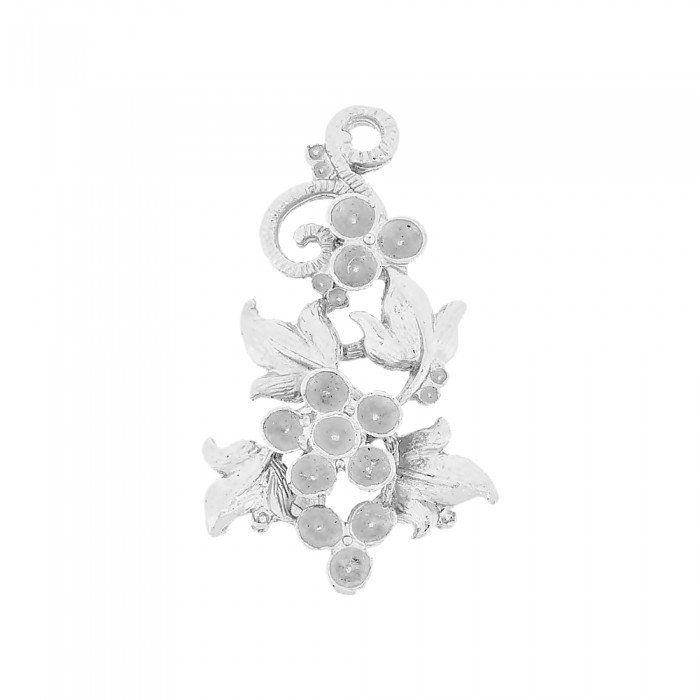 Pingente Flor de Metal - 41mm  - Nathalia Bijoux®