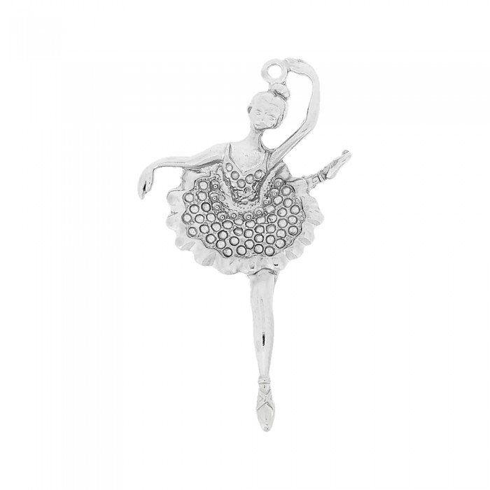 Pingente Bailarina de Metal - 81mm  - Nathalia Bijoux®