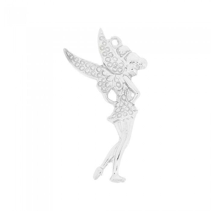 Pingente Fadinha de Metal - 69mm  - Nathalia Bijoux®