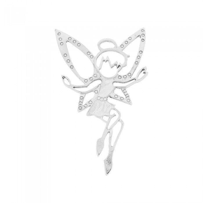 Pingente Fadinha de Metal - 90mm  - Nathalia Bijoux®