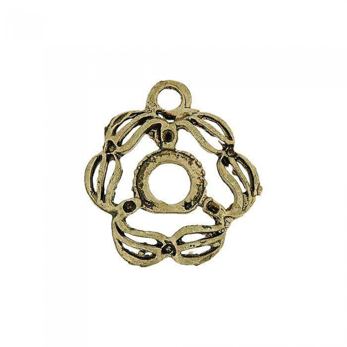 Pingente Flor de Metal - 25mm  - Nathalia Bijoux®