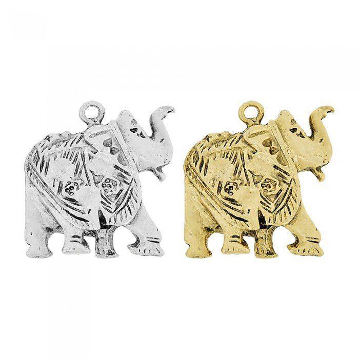 Pingente Elefante de Metal - 27mm  - Nathalia Bijoux®