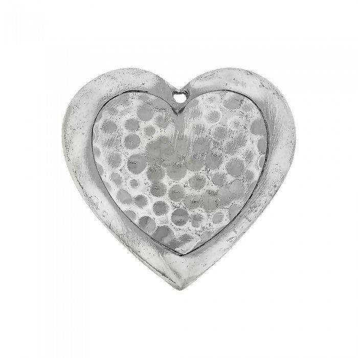 Pingente Coração de Metal - 43mm  - Nathalia Bijoux®