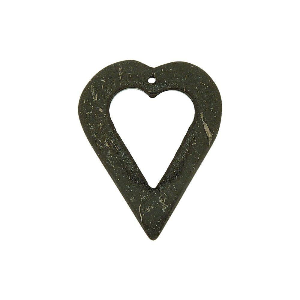 Pingente Coração de Coco - 39mm  - Nathalia Bijoux®