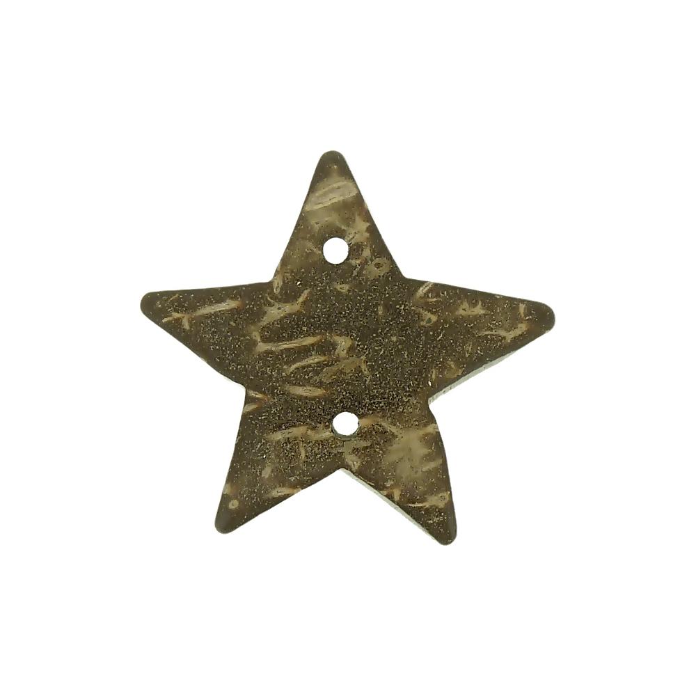 Alongador Estrela de Coco 2 Saídas - 30mm  - Nathalia Bijoux®