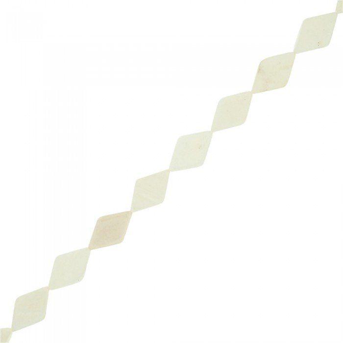 Fio de Pastilhas Balão de Madrepérola  - Natural - 15mm - 40cm  - Nathalia Bijoux®