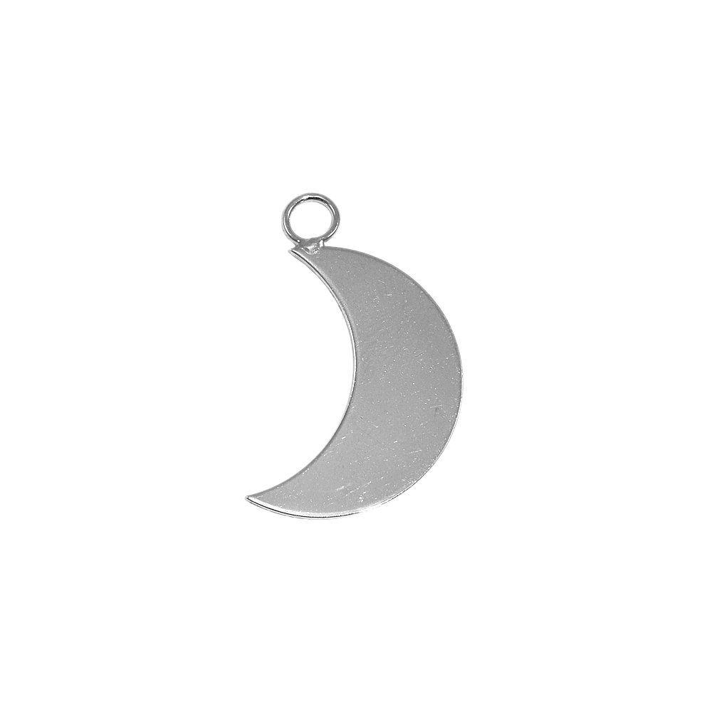 Pingente Lua de Metal - 32mm  - Nathalia Bijoux®